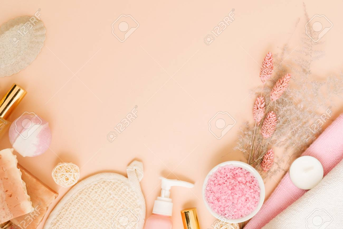 Spa Treatment Leisure Body Pampering Cosmetic Set Health And Stock Photo Picture And Royalty Free Image Image 118842429