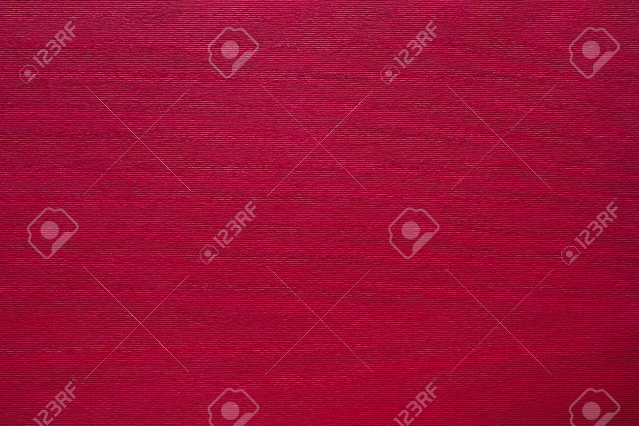 Maroon red felt texture abstract art background. Corduroy textile pattern surface. Copy space. - 124966643