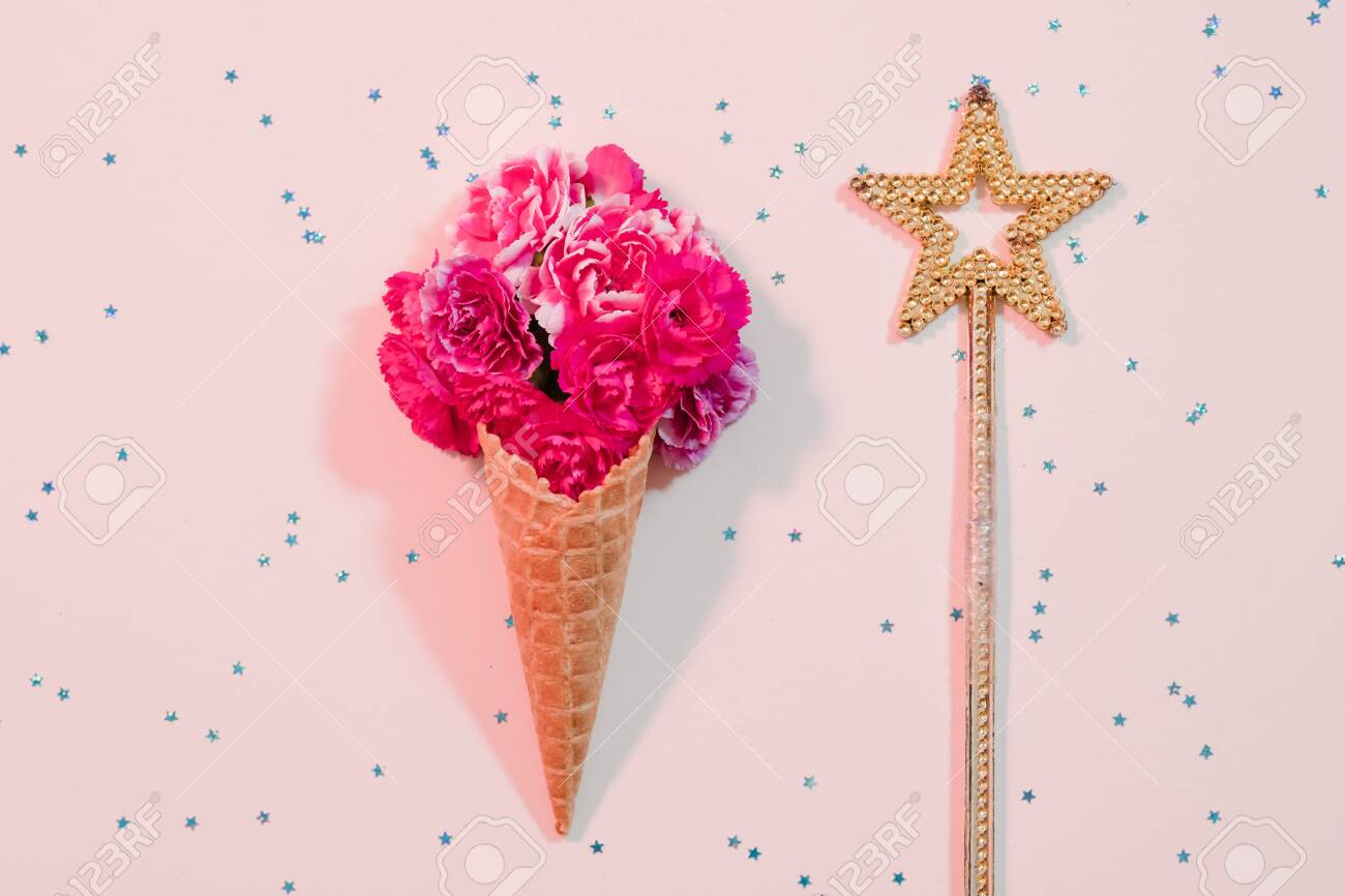 Daughter Birthday Greeting Card Abstract Floral Ice Cream With Stock Photo Picture And Royalty Free Image Image 131022648