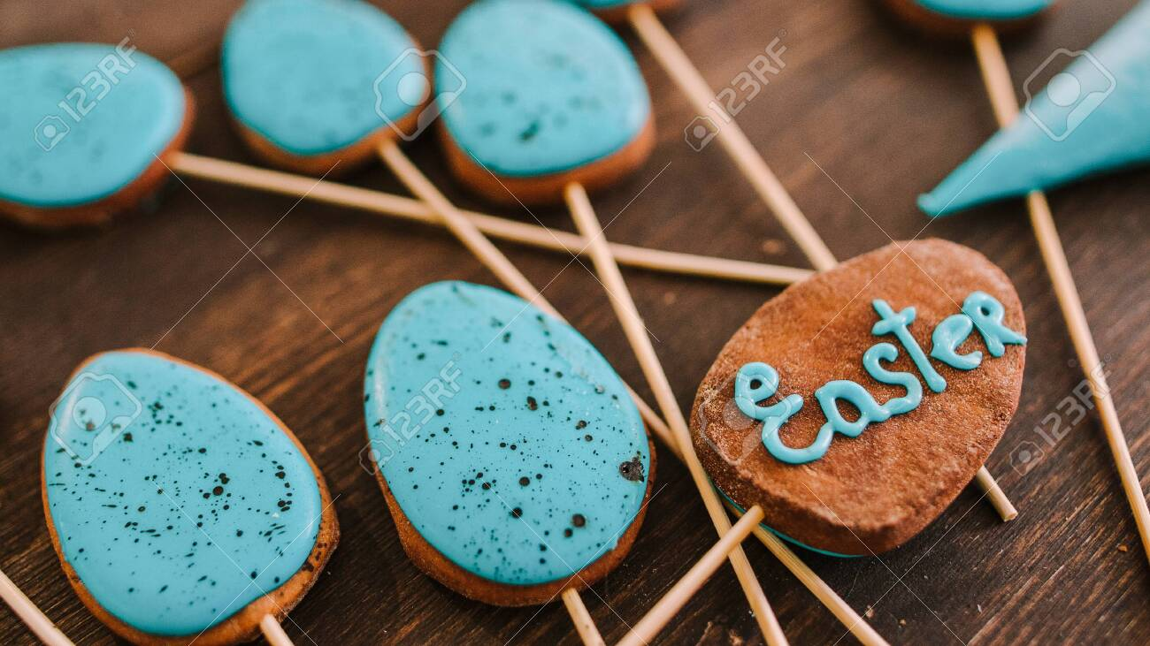 Easter Treats Decorative Homemade Biscuits Cake Pops With
