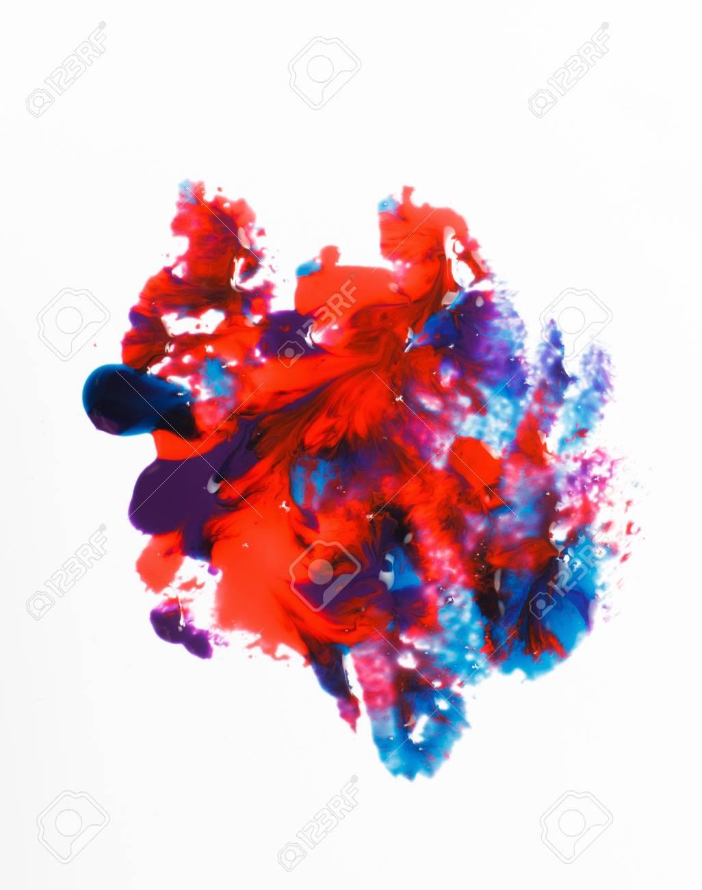 Art Créatif Moderne Peinture Abstraite Mélange De Couleurs Vives