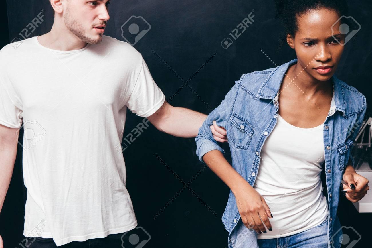 white woman black man relationship