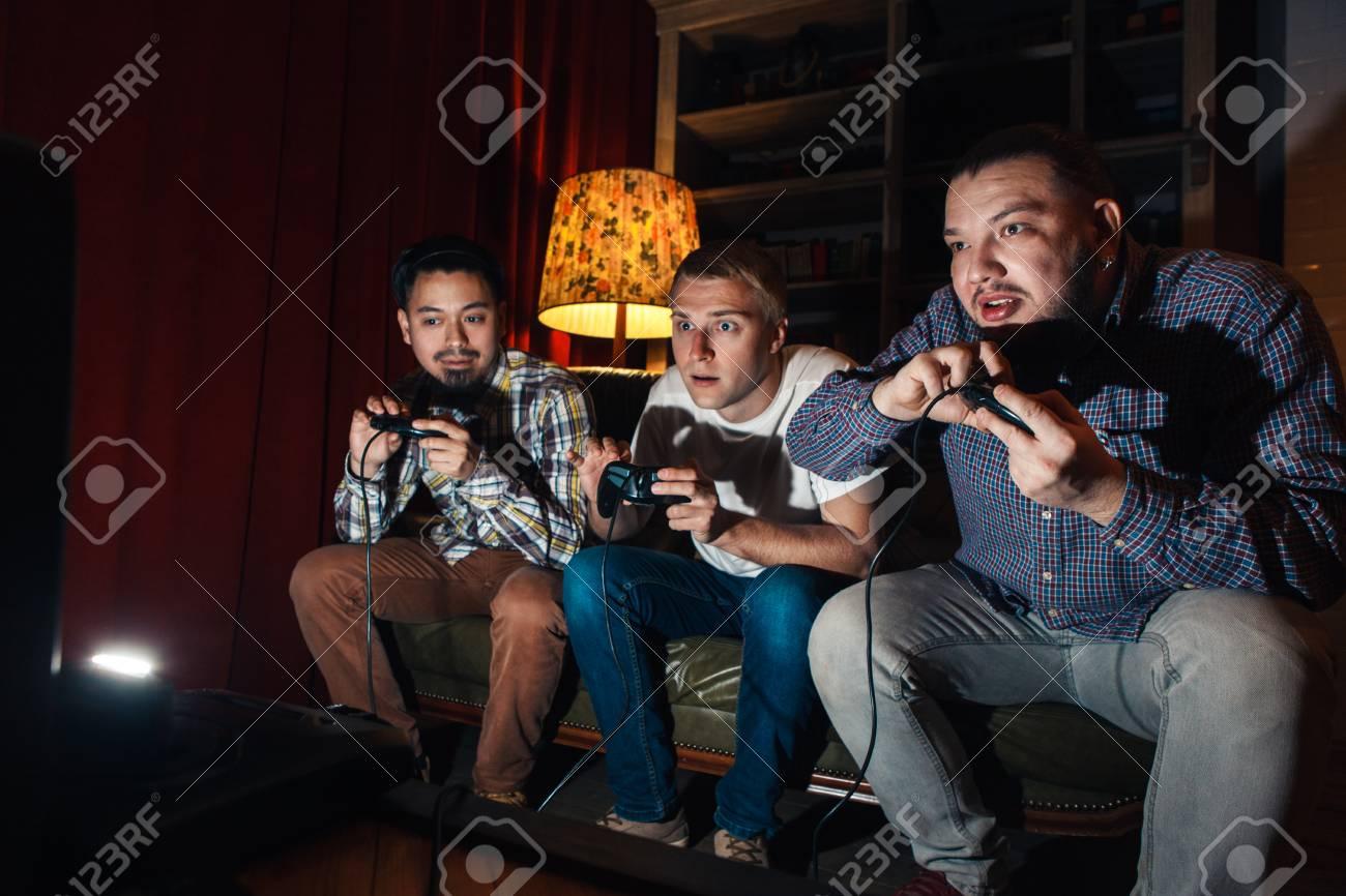Three guys play