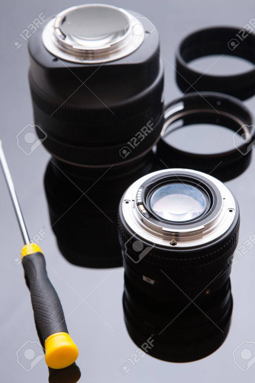 Precision optical dslr lens service, adjustment and alignment