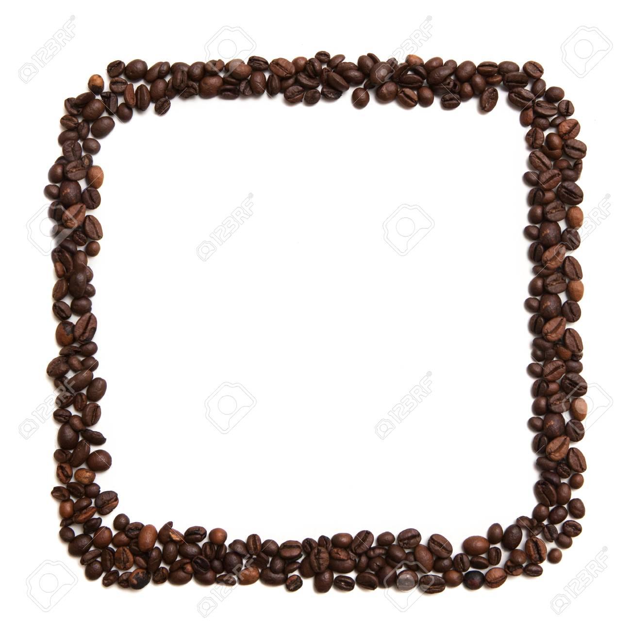 Lokalisierte Quadratische Form Der Kaffeebohnen Auf Weißem ...