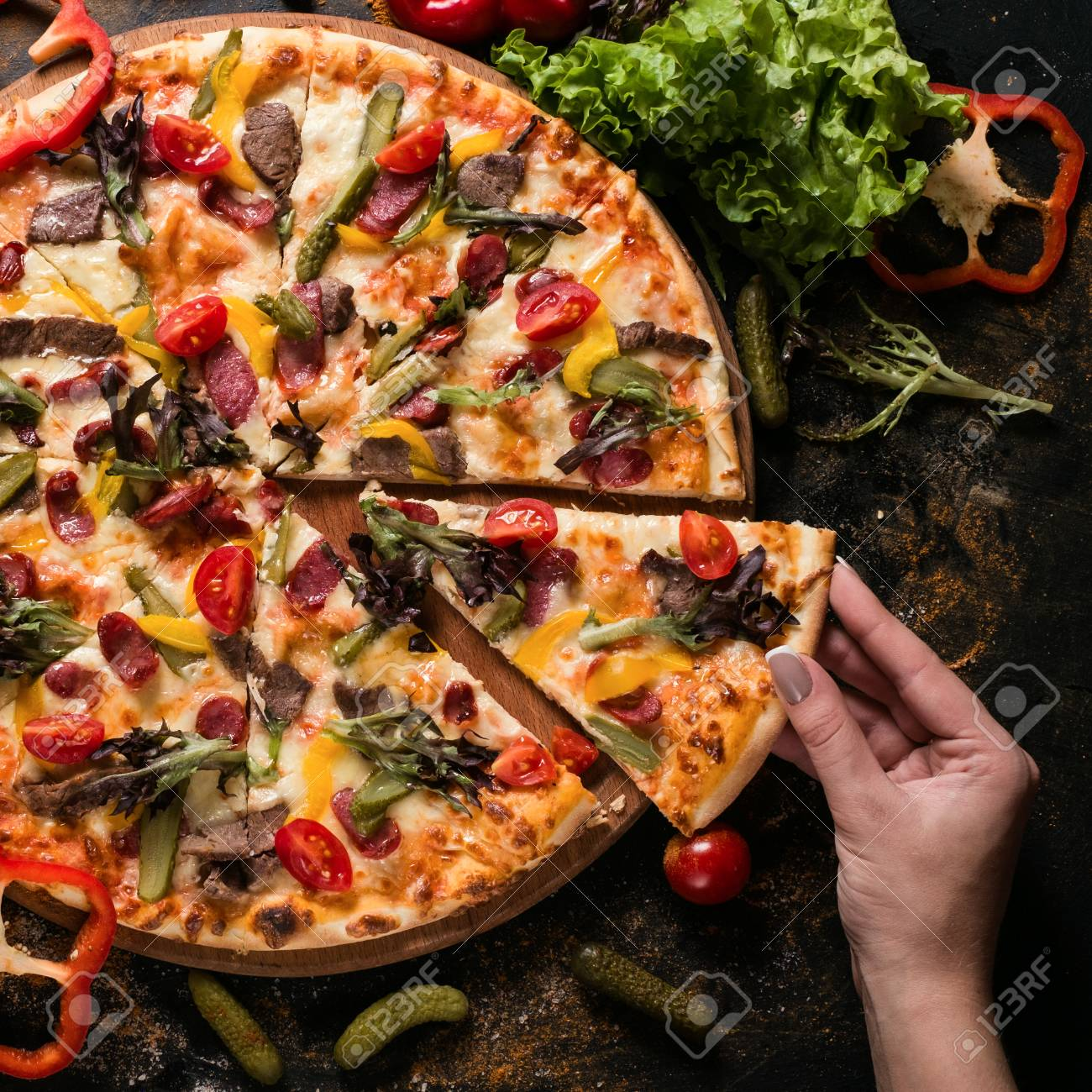 Food Photography Art Pizza Recipe Restaurant Menu Concept Stock Photo Picture And Royalty Free Image Image 88697292
