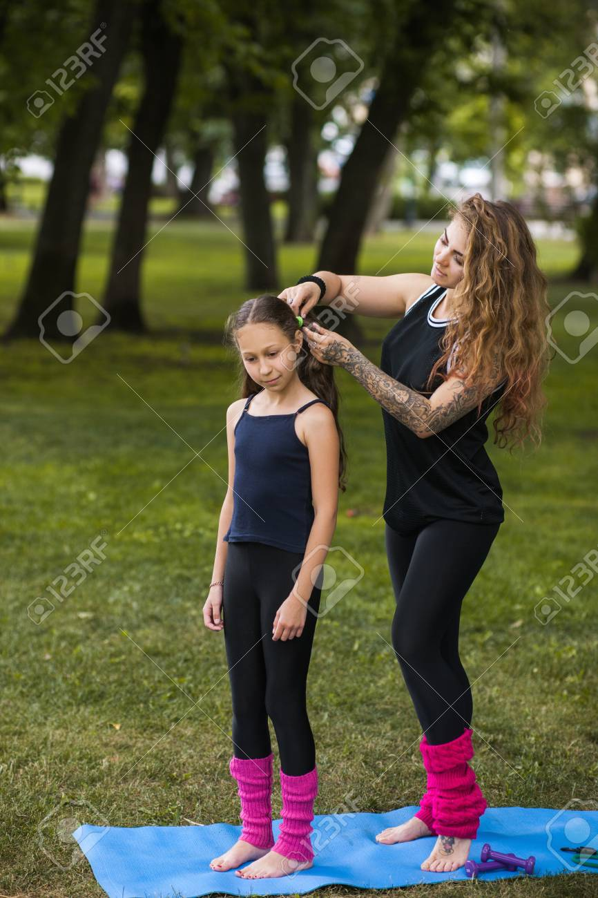 Teenage Beauty Style Exercise Preparation Yoga Outdoors Pretty Stock Photo Picture And Royalty Free Image Image 89127527