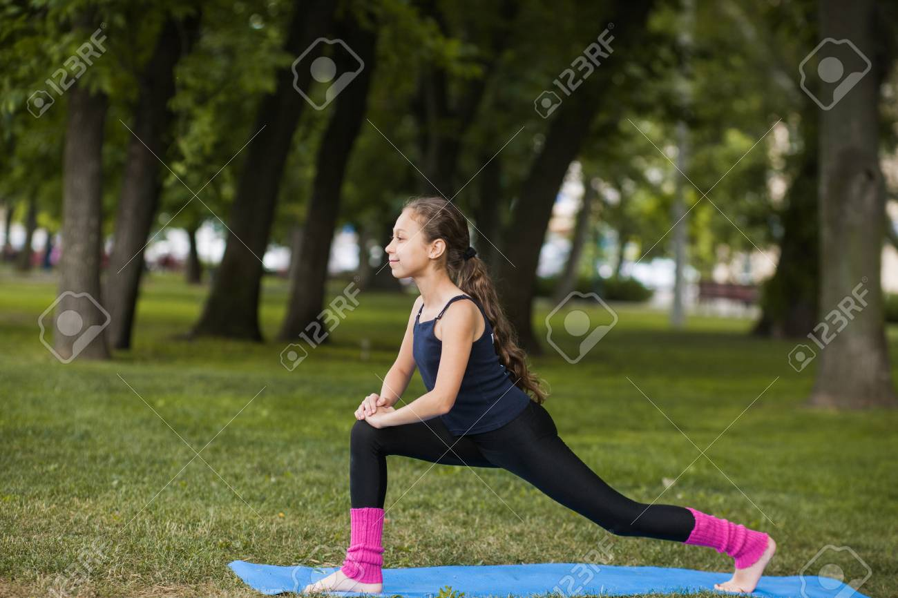 Yoga Exercises Teenage Healthy Lifestyle Strong Body For Young Stock Photo Picture And Royalty Free Image Image 89127531
