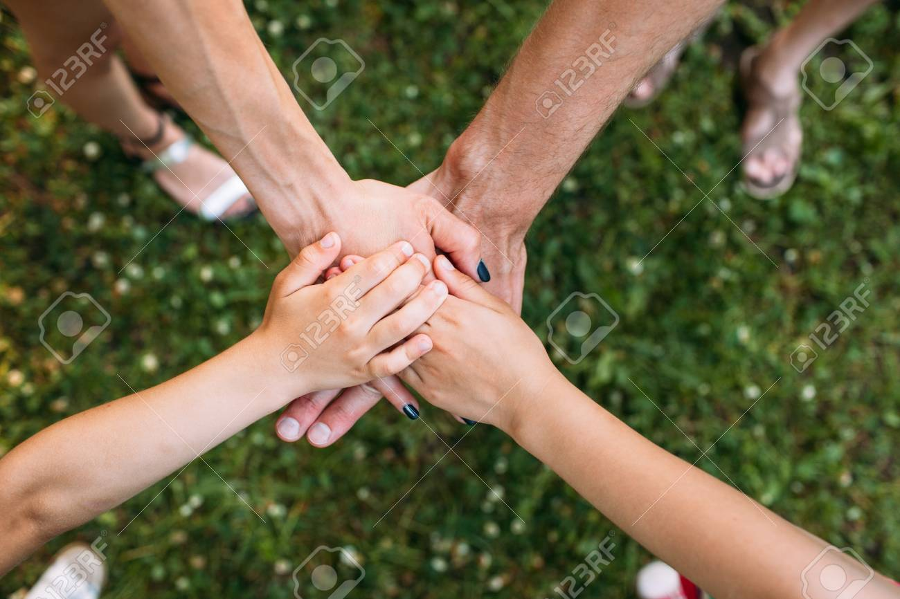 Family unity team spirit protect nature concept  For the preservation