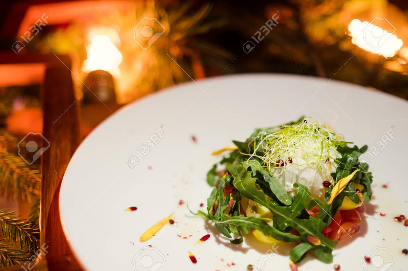 stock photo vegetarian meal vegetable salad festive holiday dinner christmas restaurant menu concept