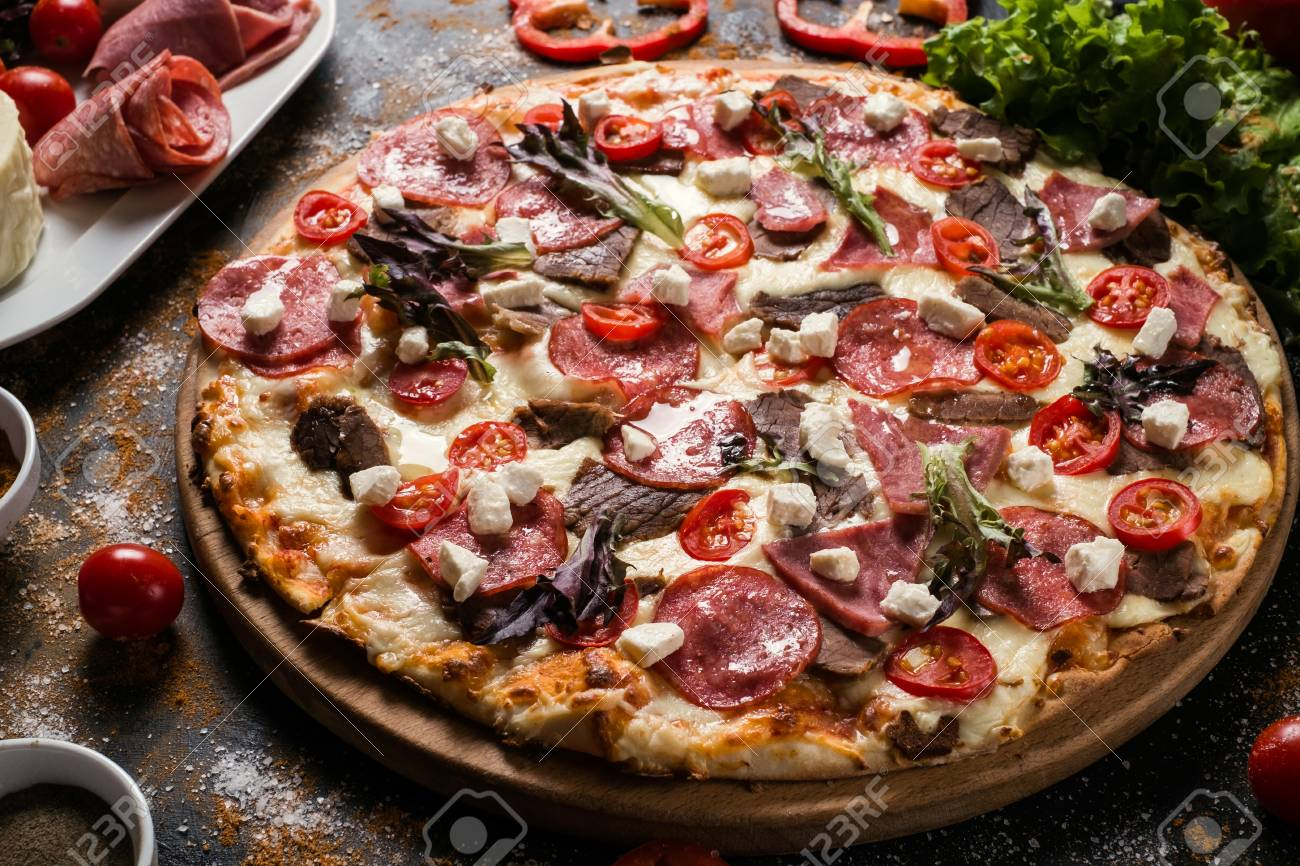 Food Photography Art Pizza Recipe Restaurant Menu Concept Stock Photo Picture And Royalty Free Image Image 91122378