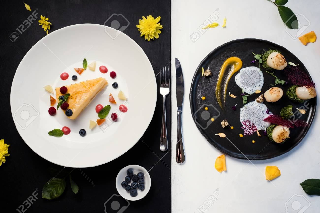 Contrast Restaurant Meals Gourmet Concept Delicious Luxury Food Stock Photo Picture And Royalty Free Image Image 91821706