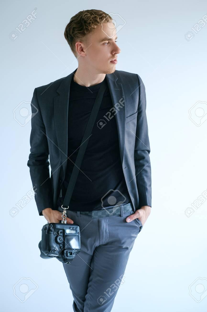 Photography Art Camera Equipment Creative Photographer Lifestyle Working Process Self Confident Man Fashion