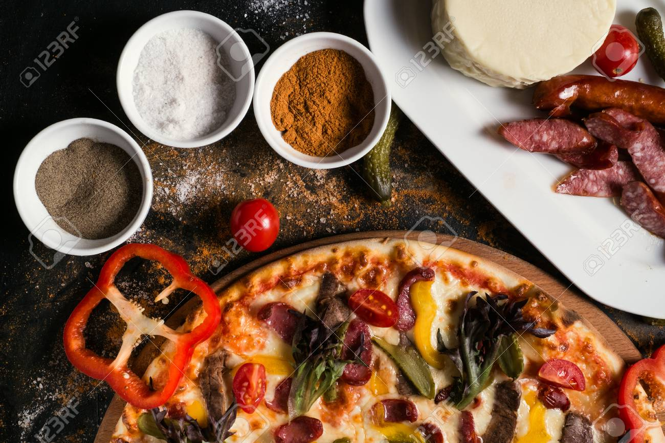Food Photography Art Pizza Recipe Restaurant Menu Concept Stock Photo Picture And Royalty Free Image Image 92253707
