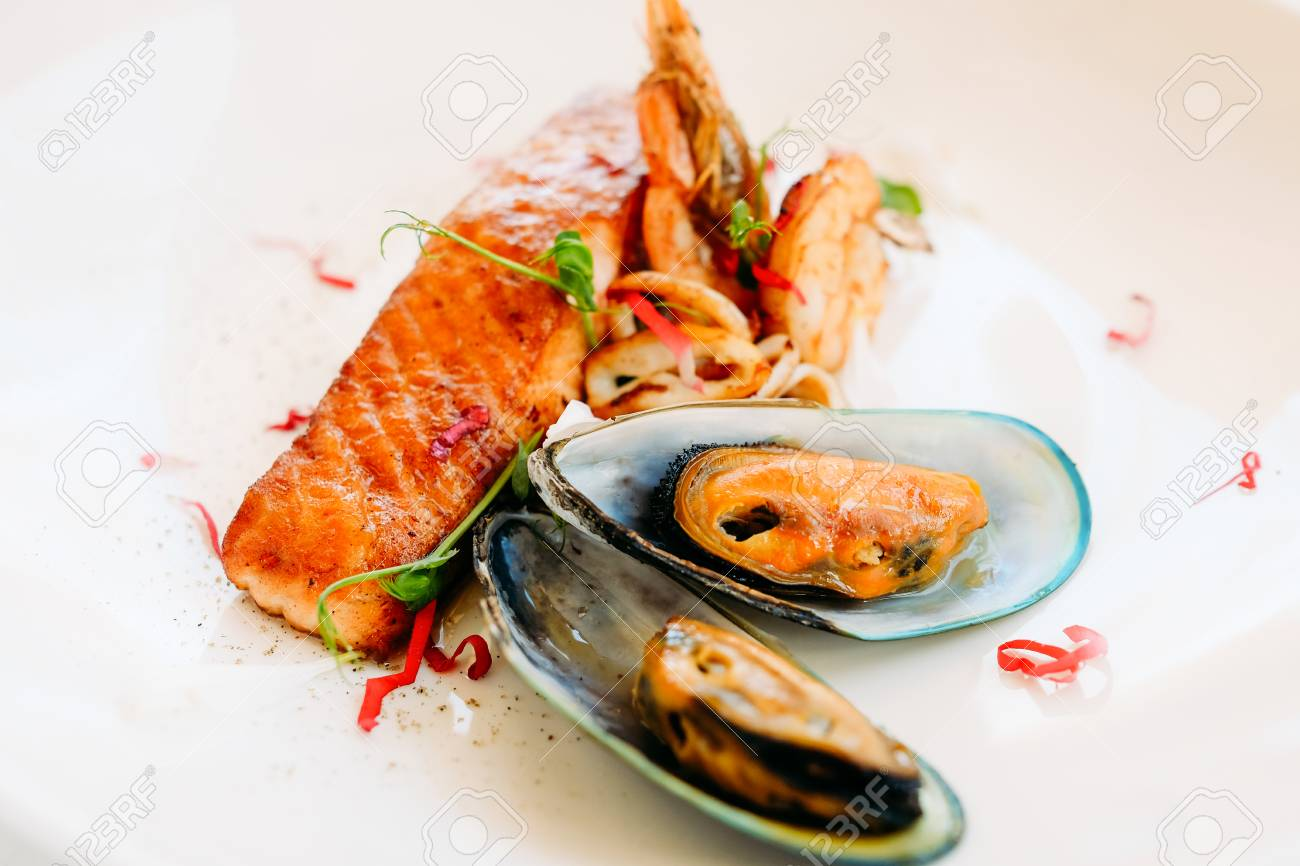 Seafood Breakfast Restaurant Recipe Concept Lifestyle Of High Stock Photo Picture And Royalty Free Image Image 94360734
