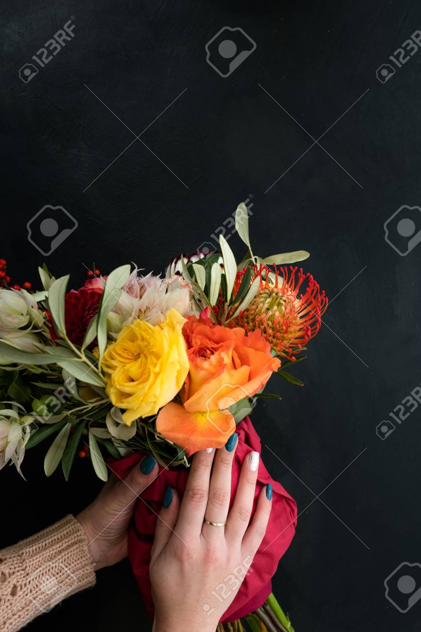 Safe And Quick Flower Bouquet Delivery For Someone You Love... Stock ...