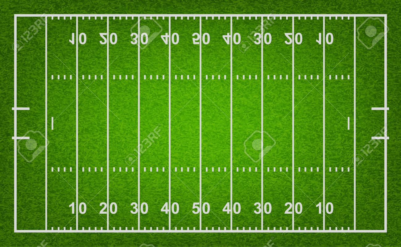 american football field with grass texture vector eps10