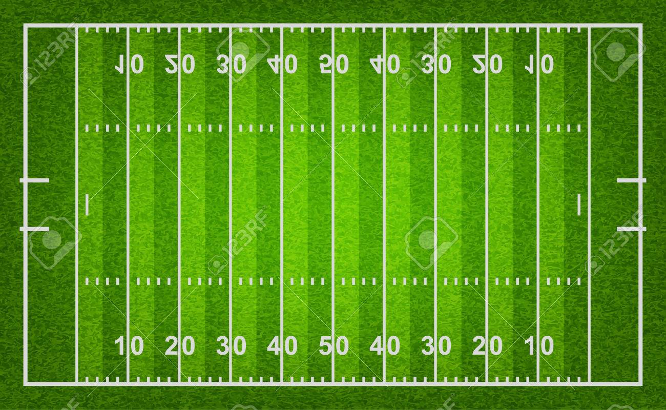 American football field with grass texture. Vector EPS10 illustration. - 39040030