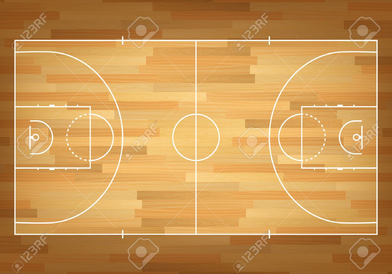 basketball court on top vector eps10 illustration royalty free