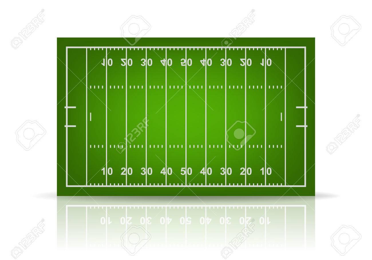 3d american football field. Vector EPS10 illustration. - 39581012