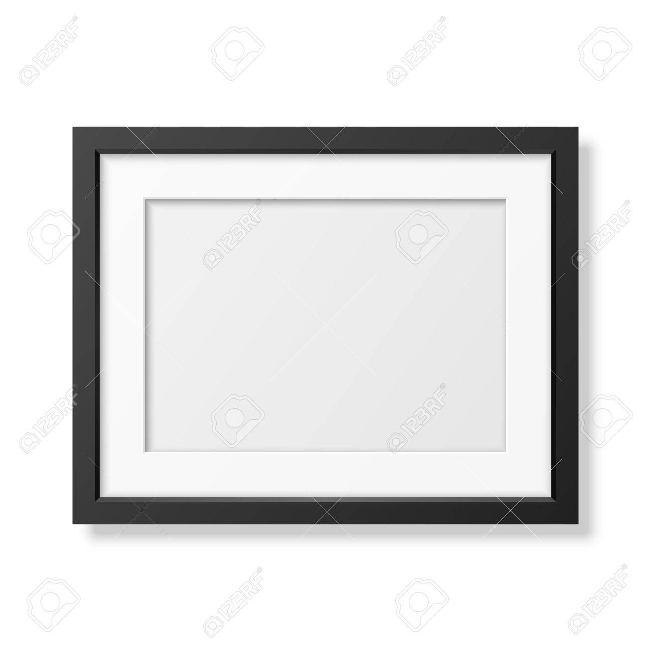 Realistische Schwarzen Rahmen A4 Isoliert Auf Weiß. Es Kann Für ...