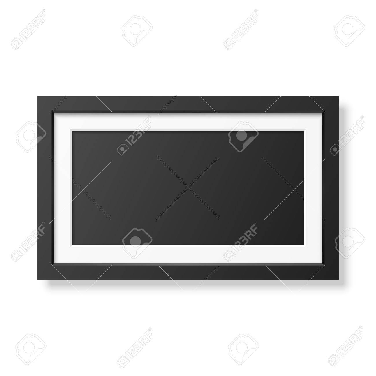 Realistischer Schwarzer Rahmen Getrennt Auf Weiß. Es Kann Für ...