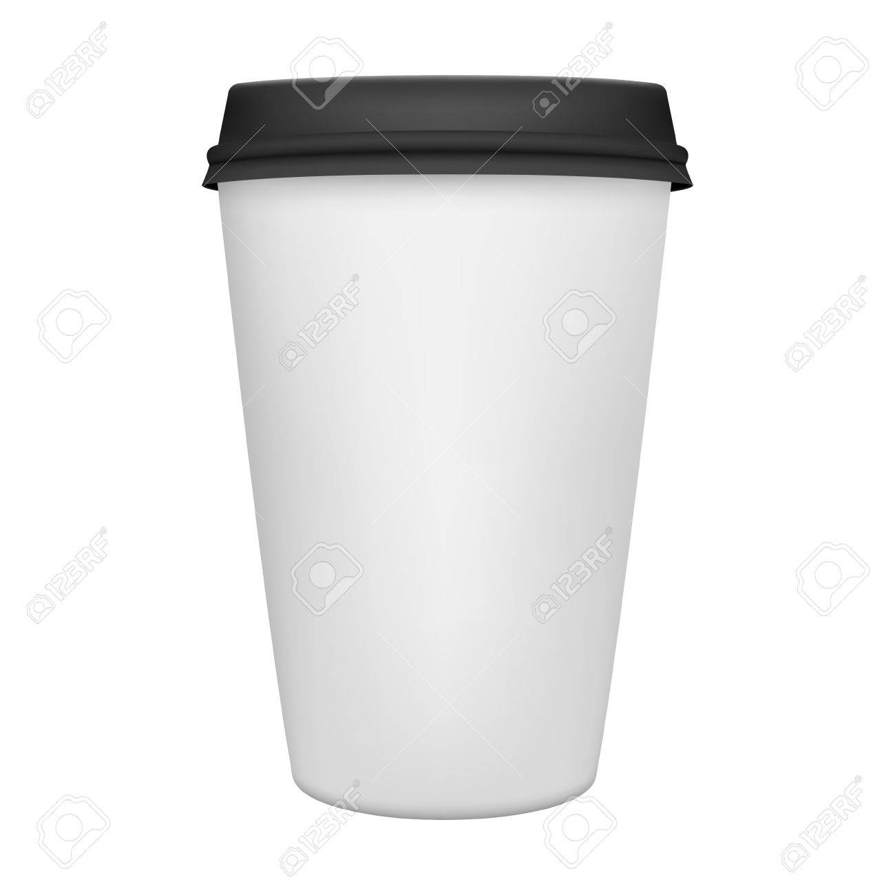 Realistic paper coffee cup iIsolated. Vector EPS8 illustration. - 44033320
