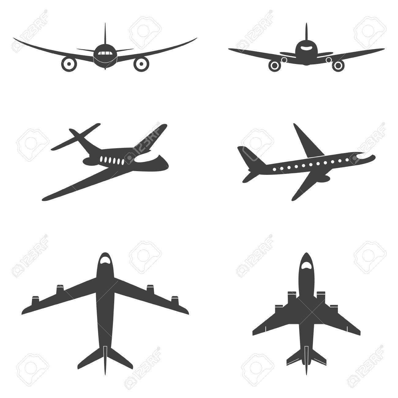 Vector isolated plane icons set. Vector EPS8 illustration. - 45322055