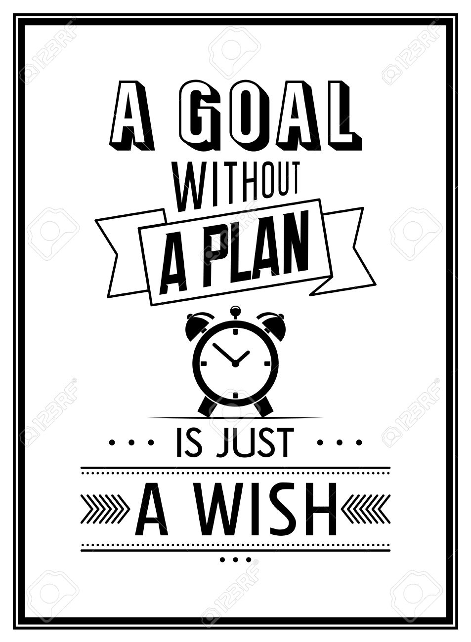 A Goal Without A Plan Is Just A Wish   Quote Typographical Background.  Vector Illustration