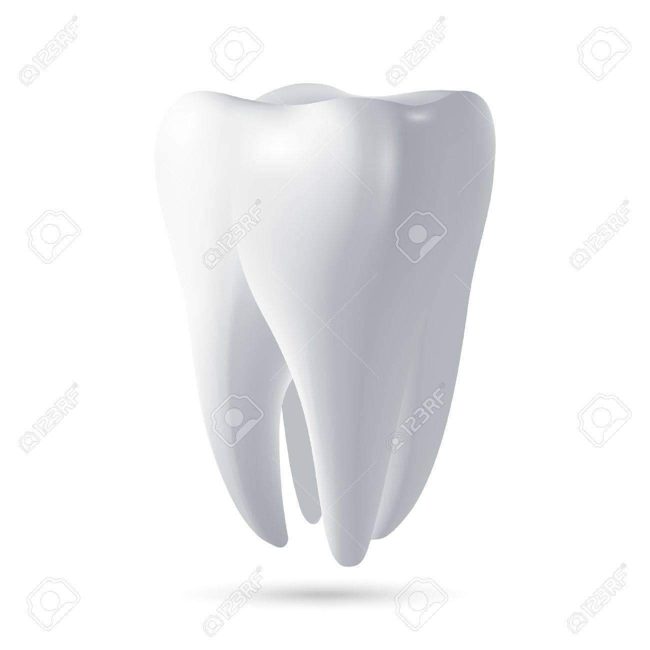 Tooth, 3D render. Dental, medicine and health concept design element. Vector EPS10 illustration. - 48795073