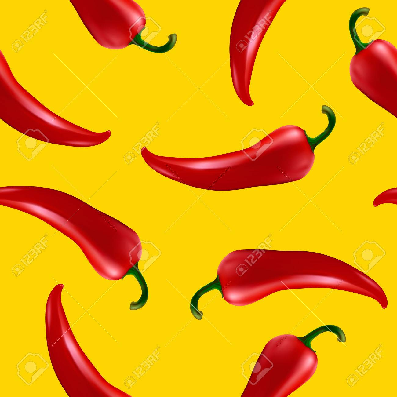 06df53bc1004 Seamless Pattern With Red Chilli Pepper. Royalty Free Cliparts ...