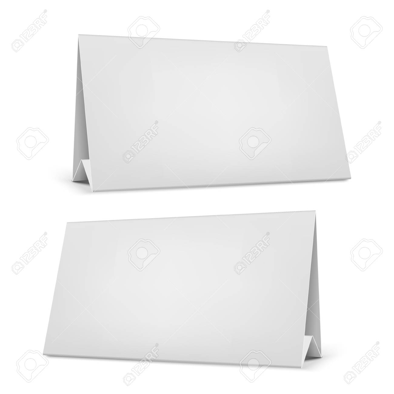 Realistic White Blank Desk Calendar With Stand Royalty Free
