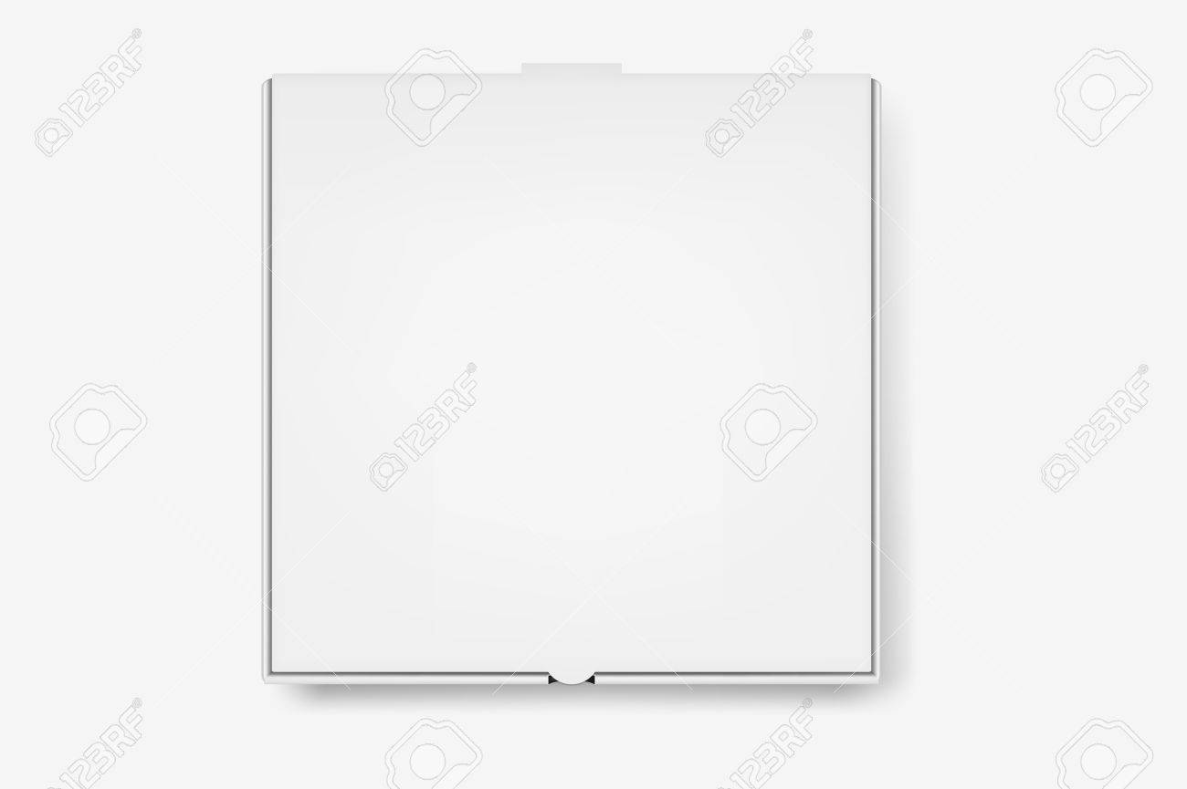 White Pizza Box Template Isolated On White Background Royalty Free