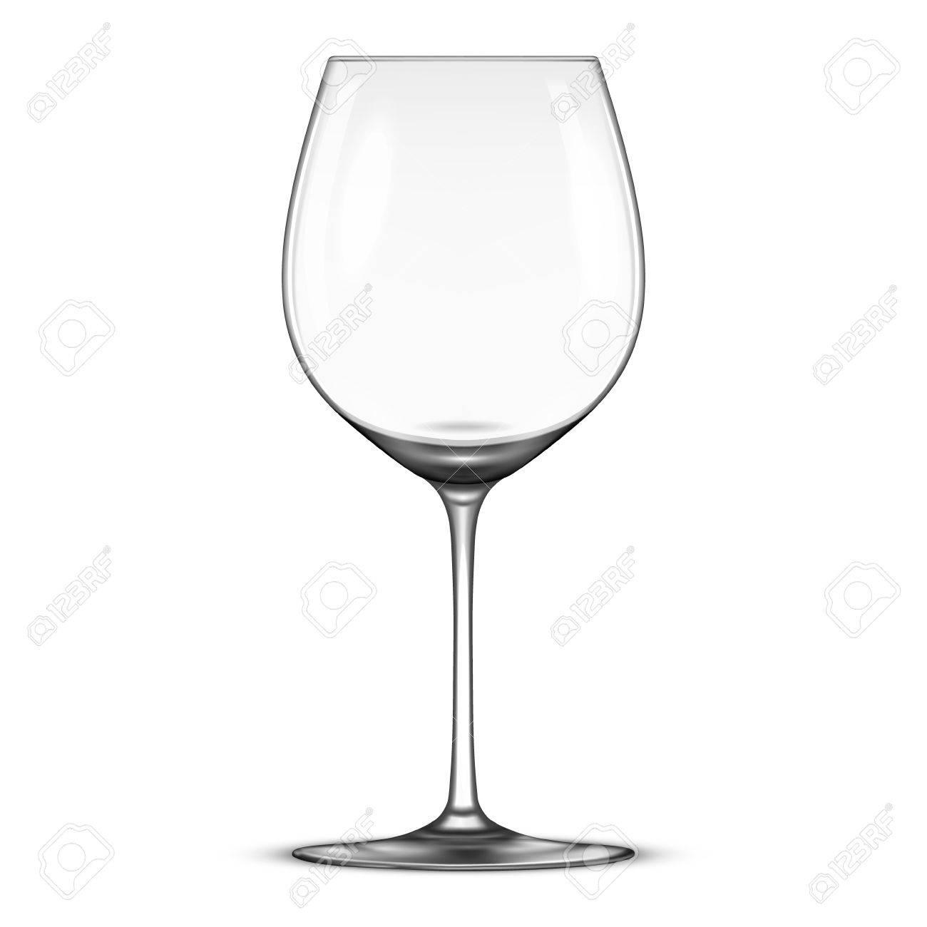 Vectoriel réaliste d'une icône en verre de vin vide isolé sur fond blanc. Modèle de conception dans EPS10.