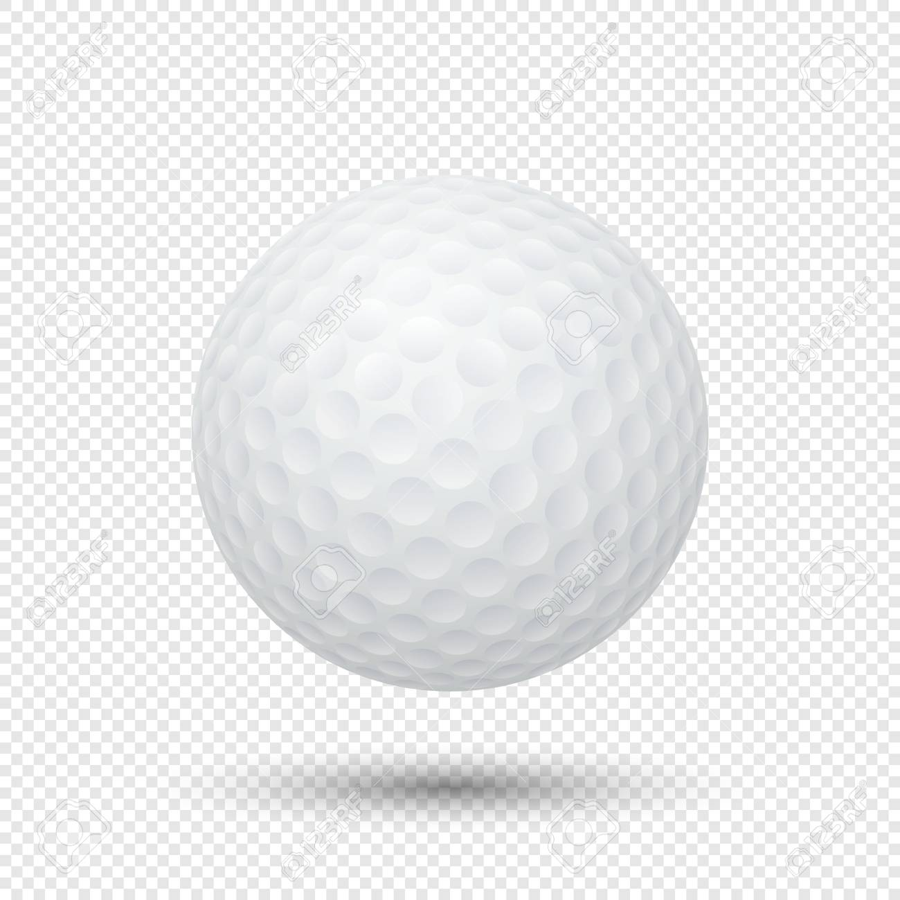 Vector Realistic Flying Golf Ball Closeup Isolated On Transparent Royalty Free Cliparts Vectors And Stock Illustration Image 75841963