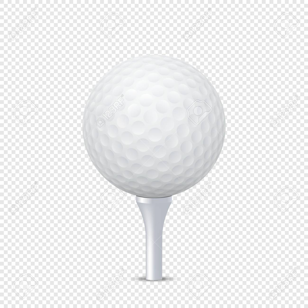 69273cd9 Vector - Vector white realistic golf ball template on tee - isolated. Design  template in EPS10.