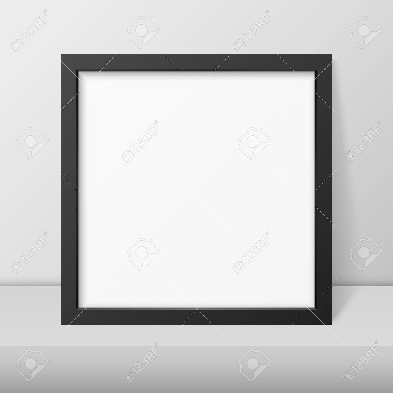 WHITE Modern Wood Photo Picture Poster Frames BLACK