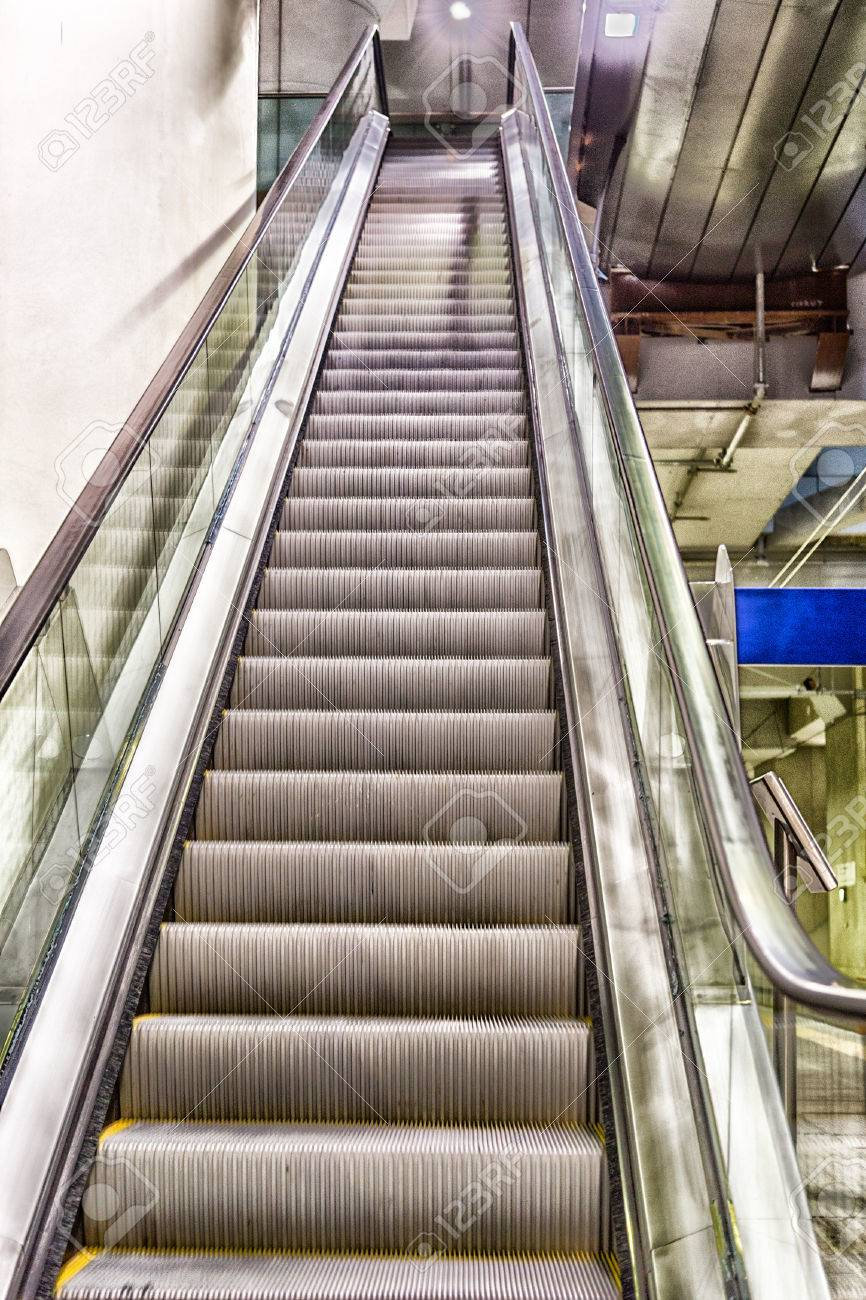 Moving Staircase Stock Photo   40743405
