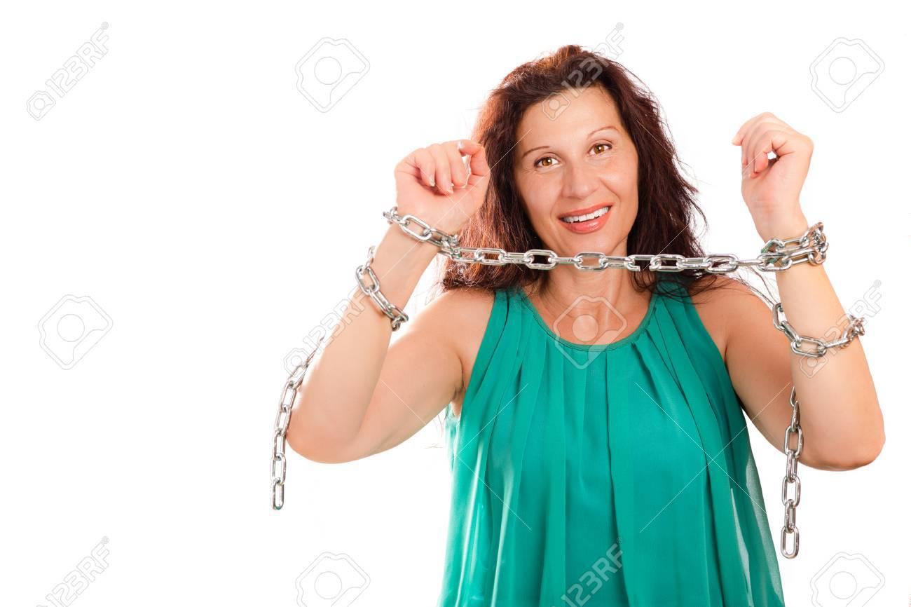 Aged mature woman