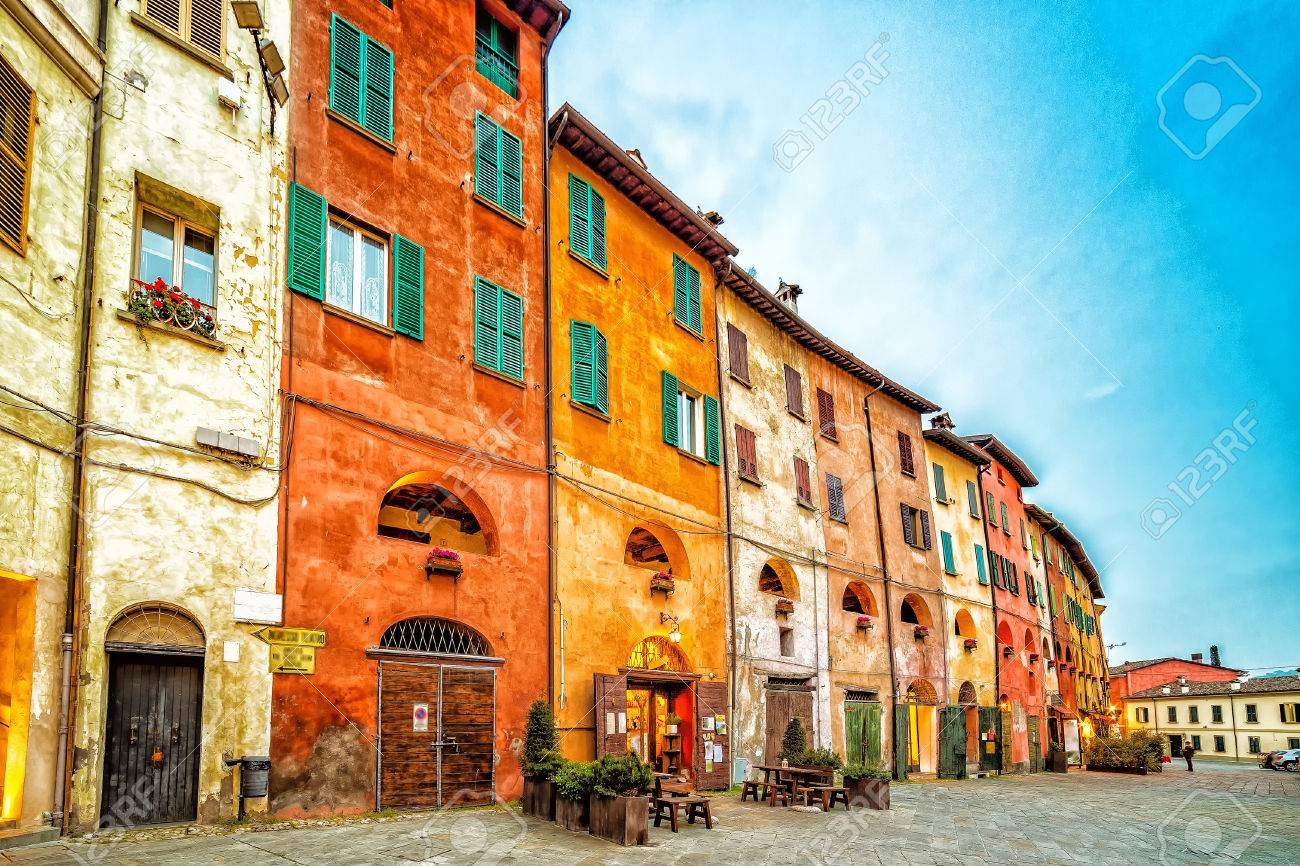 The Streets Of Brisighella The Most Beautiful Ancient Village Stock Photo Picture And Royalty Free Image Image 68371623