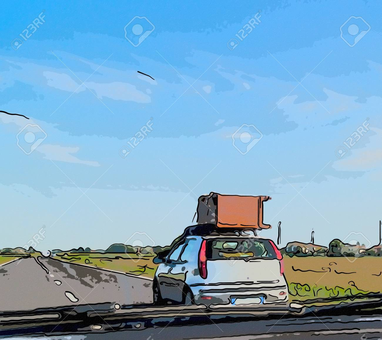 Moving And Unusual Road Traffic A Wooden Cabinet Transported