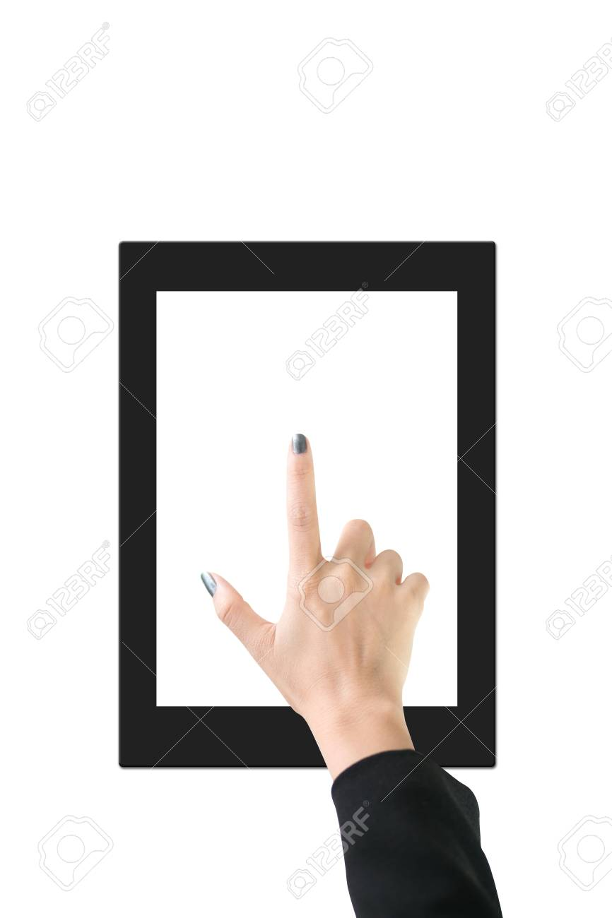 Hands with tablet computer  Isolated on white background Stock Photo - 14914212