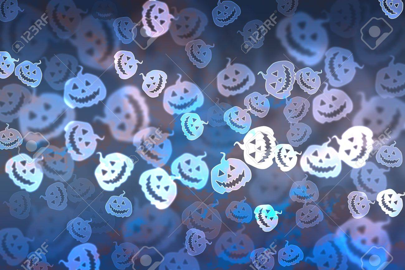 Pumpkin bokeh Halloween background Stock Photo - 15514057