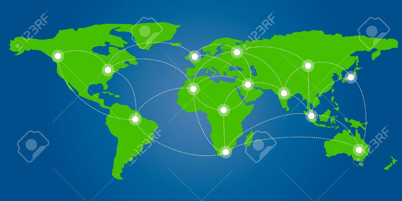 World map with connection concept format royalty free cliparts vector world map with connection concept format gumiabroncs Choice Image