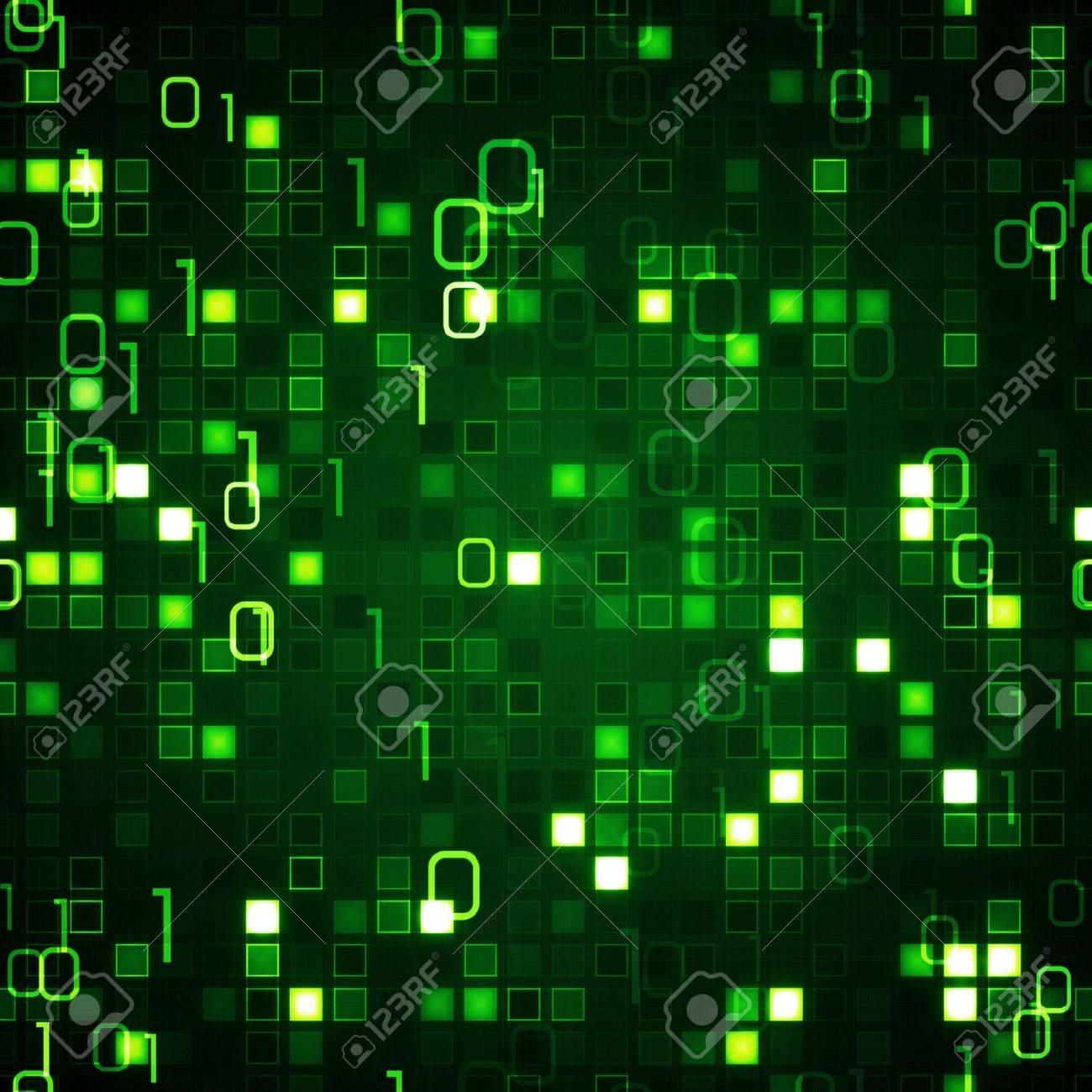 green seamless background information technology stock photo