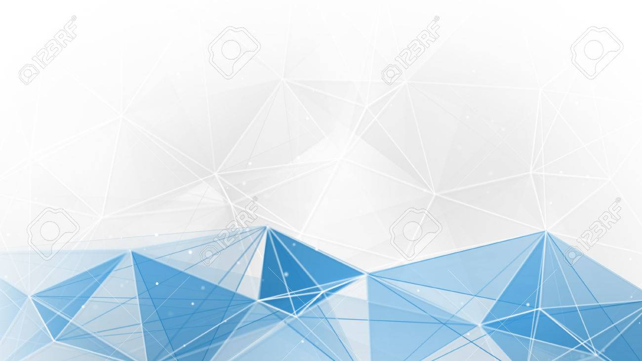 Abstract Blue White Geometrical Web Background