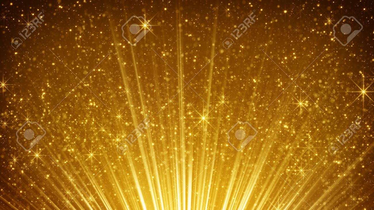 Golden Particles Rays Background 82100 (Ánh hào quang)