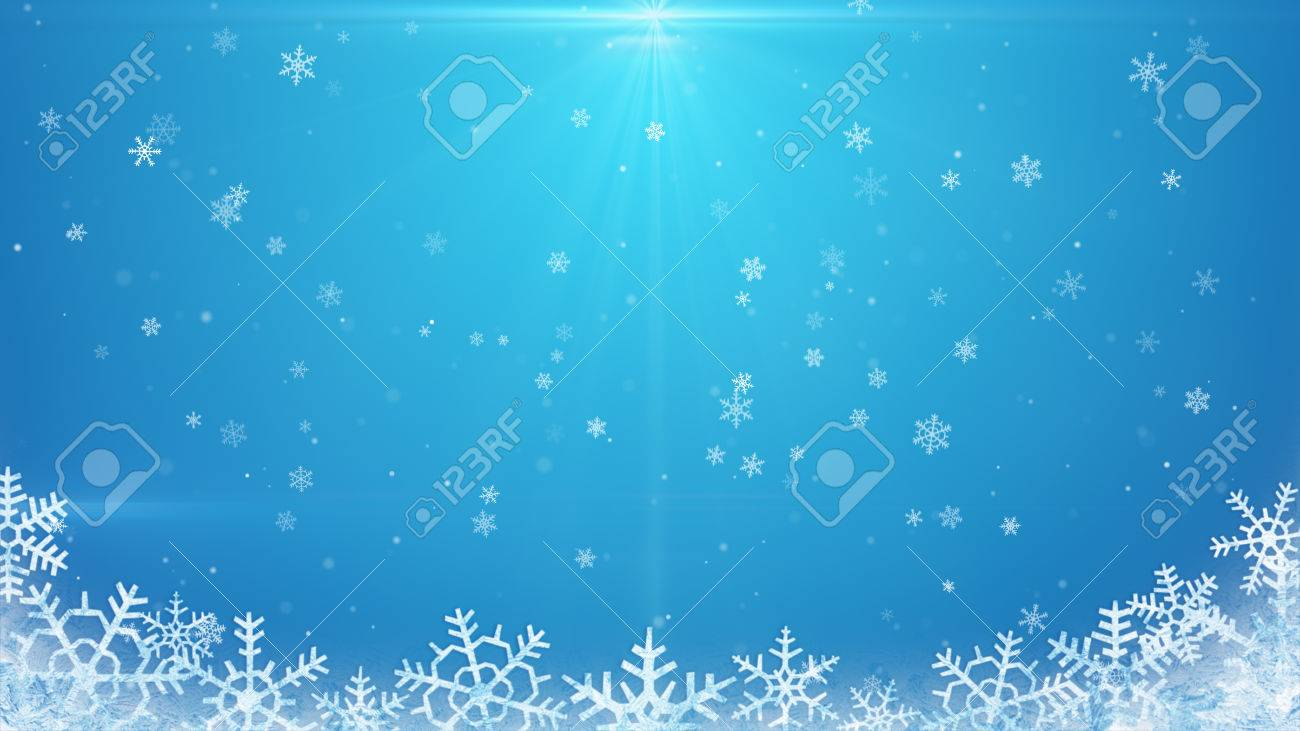 snowflakes on blue background - 47589970