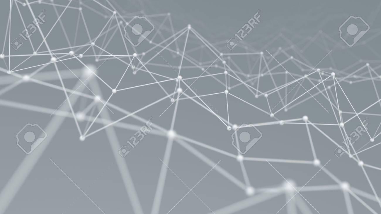 Estructura Metálica Forma De Red Fondo Generado Por Ordenador Tecnología Resumen 3d Ilustración