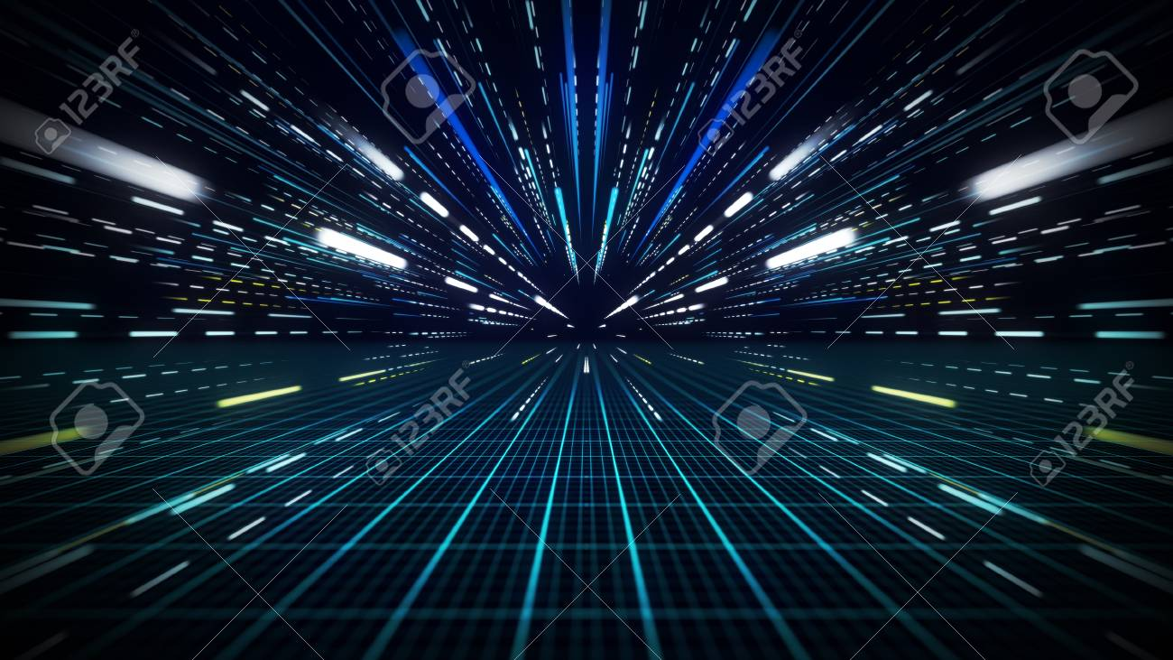 Speed motion lines. Computer generated abstract background - 85834232